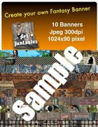 Fantasy Banners or Page Separators Volume 6 Witchy