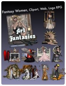 Fantasy Women Clipart Volume 1