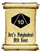 Art's Polyhedral Dice D10 Font