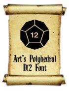 Art's Polyhedral Dice D12 Font