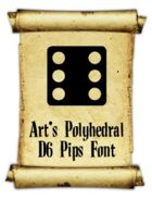 Art's Polyhedral Dice D6 Font with Pips