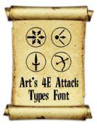 Art's 4E Attack Types Font