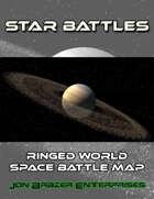 Star Battles: Ringed World Space Battle Map (VTT)