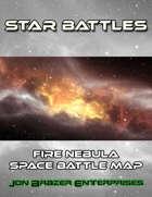 Star Battles: Fire Nebula Space Battle Map (VTT)