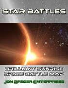Star Battles: Brilliant Sunrise Space Battle Map (VTT)