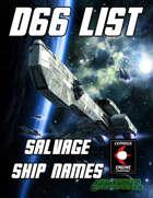 d66 Salvage Ship Names