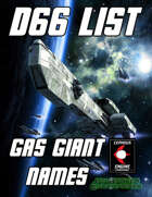 d66 Gas Giant Names