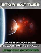Star Battles: Sun and Moon Rise Space Battle Map (VTT)
