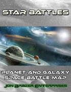 Star Battles: Planet and Galaxy Space Battle Map (VTT)