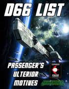 d66 Passenger's Ulterior Motives