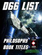 d66 Philosophy Book Titles