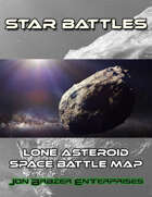 Star Battles: Lone Asteroid Space Battle Map (VTT)