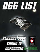 d66 Reasons Your Cargo is Impounded
