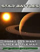 Star Battles: Ringed Gas Giant Space Battle Map (VTT)
