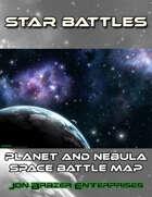 Star Battles: Planet and Nebula Space Battle Map (VTT)
