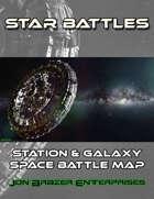 Star Battles: Station & Galaxy Space Battle Map (VTT)