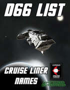 d66 Cruise Liner Names