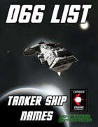 d66 Tanker Ship Names