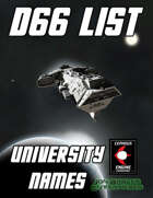 d66 University Names