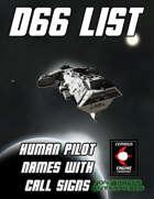 d66 Human Pilot Names with Call Signs