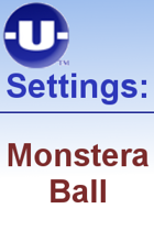 -U- Settings: Monstera Ball