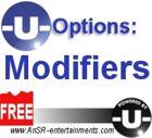 -U- Options: Modifiers