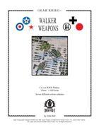 Gear Krieg Card Model: Walker Weapons
