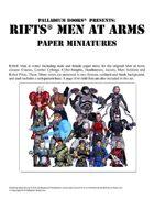 Rifts® Paper Miniatures: Men at Arms