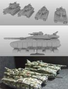Merka Tank for 3d printing (STL)