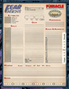 Fear Agent: Character Sheet