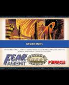 Fear Agent: GM Screen Inserts