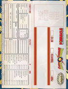 The Savage World of Flash Gordon: Table Tent Character Sheet
