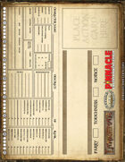 Lankhmar: Table Tent Character Sheet