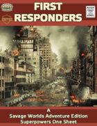 First Responders, A Savage Worlds Superhero One Sheet