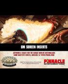 Savage Worlds Adventure Edition: Customizable GM's Screen Inserts