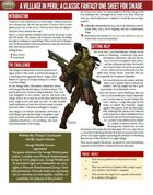 A Village in Peril (SWADE One Sheet)