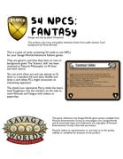 54 NPCs - Fantasy