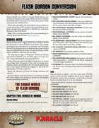 The Savage World of Flash Gordon Conversion Guide