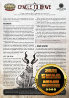 Cradle to Grave: A Savage Worlds One Sheet