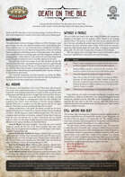 Death on the Bile: A Savage Worlds One Sheet