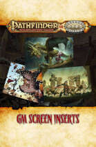 Pathfinder® for Savage Worlds GM Screen Inserts
