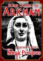 Arkham: City of Secrets - House Lionnes: Cynthia Alcott