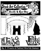 Stock Art Collection #1: Scrolls, Spot Illos