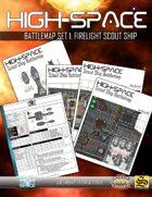High-Space Battlemaps: Firelight Scout Ship