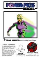 Power Pics Heroes 1 -Female Speedster