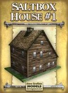 Saltbox House #1 Paper Model