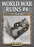 World War Ruins #4 Paper Model