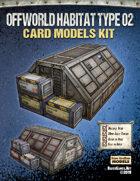 Offworld Habitat Type 02 Paper Model Kit