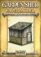 Garden Shed Paper Model
