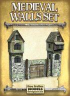 Medieval Walls Set Paper Models